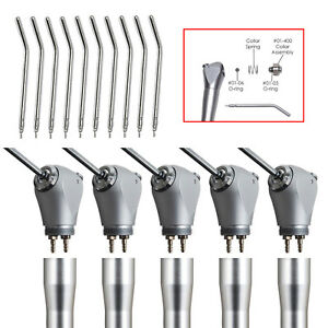 5 Dental Air Water Spray Triple 3 Way Syringe Handpiece Autoclave 10 Nozzles Tip