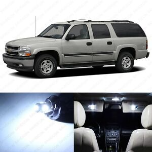14 X White Led Interior Light Package For 2000 2006 Chevy Suburban Pry Tool