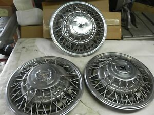 1975 1985 Cadillac 15 Inch Hub Caps Wheel Covers Nice Cool Wow Vintage Auto
