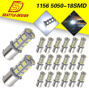 20x White 1156 18 Smd Rv Camper Trailer Led Interior Light Bulbs 1073 1141