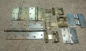 Vintage Lot 13 Brass Door Hinges Self Closing Ball Hinges Hager Stanly