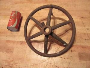 Antique Cast Iron Steam Engine Steering Wheel Model Tractor Old Industrial Iron