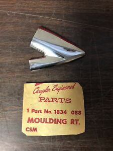 1958 Plymouth Rh Front Door V Trim Moulding Nos Mopar 119