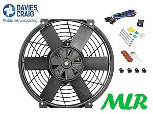 Davies Craig 10inch Slimline 50mm Thick Electric Engine Cooling Fan