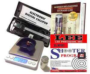 BRAND NEW RELOADING PACKAGE DIGITAL POWDER SCALE CALIPERS  2ND ED LEE MANUAL