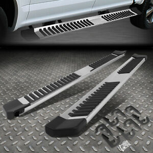 For 04 14 Ford F150 Crew Cab Stainless Steel Side Step Nerf Bar Running Boards