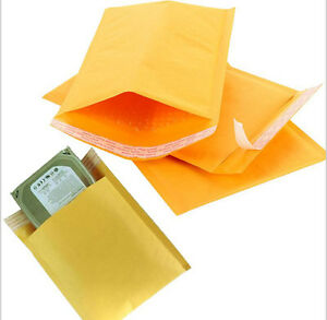 Lots 10 20 50 100x Bubble Envelopes Self Seal Kraft Padded Mailer Shipping Bag