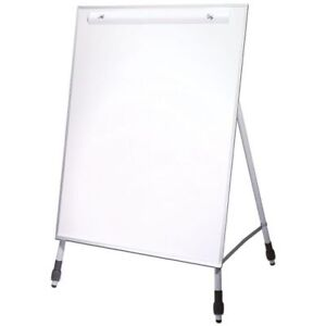 Flipside Products 27 5 X 32 inch Dry Erase Easel Stand With Adjustable Legs
