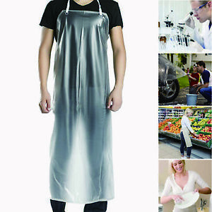 47 x28 Clear Waterproof Apron Pvc Unisex For Cooking Restaurant Kitchen Chef