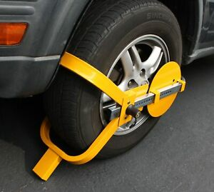 Wheel Lock Clamp Boot Tire Claw Trailer Car Truck Anti Theft Towing Boot 13 15