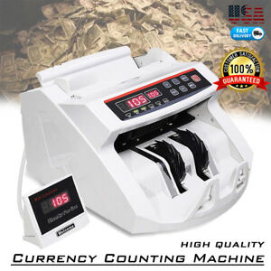 Money Counter Bill Counting Machine Detector W Uv mg Counterfeit Bill Detection