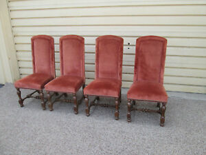58480 Set Of 4 Solid Oak Ethan Allen Dining Chair S