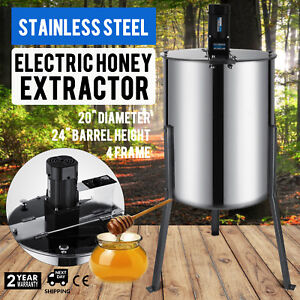 4 Frame Electric Honey Extractor Beekeeping Supply Spinner Auto Spin Apiary