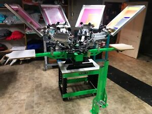 Screen Print Press 6 Color 4 Station
