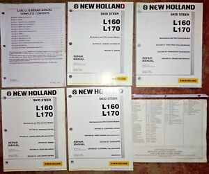 New Holland L160 L170 Skid Steer Loader Service Repair Manual Complete Original