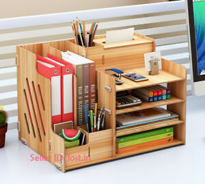 Office Multifunction Desktop Storage Document Rack Desk Pen Organizer Holder
