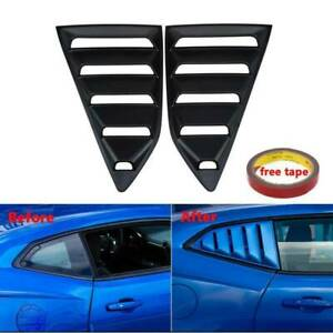 2x Rear Side Window Louver Scoop Cover Matte Black For 2016 2019 Chevy Camaro