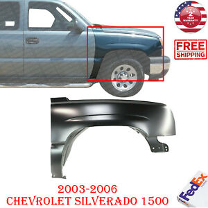 New Fender For 2003 2006 Chevrolet Silverado 1500 Primed Steel Front Right