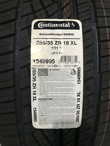 1 New 285 35 18 Continental Extreme Contact Dws06 Tire