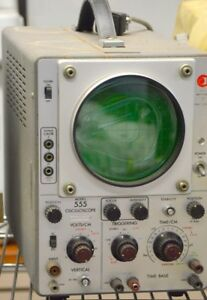 Vintage Data Instrument 555 Oscilloscope powers On