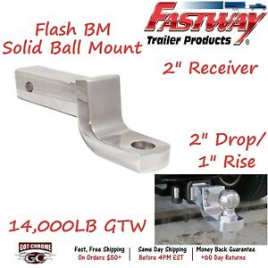 Dt Bm4200 Fastway Trailer 2 Fixed Trailer Hitch Ball Mount W 2 Drop 1 Rise