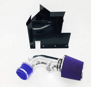 Blue For 2007 2011 Bmw 128i 328i 3 0l 6cyl Heat Shield Cold Air Intake Kit