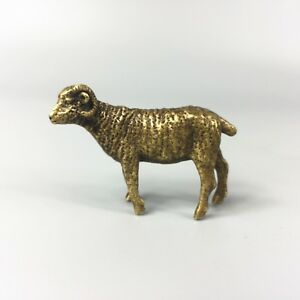 Antique Chinese Rare Collectible Old Brass Handwork Zodiac Sheep Fortune Statue