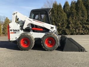 2014 Bobcat S650 Rubber Tire Skid Steer Diesel Bob Cat Wheel Loader