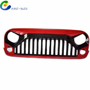 Front Angry Bird Grill Grille For Jeep Wrangler Rubicon Sahara Sport Jk 07 17