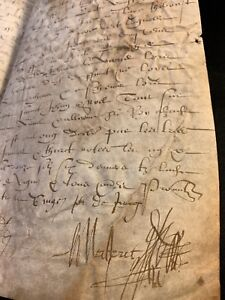 Very Old Parchment 1584