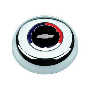 Grant 5607 Classic Challenger Red White Blue Chevy Bowtie Horn Button