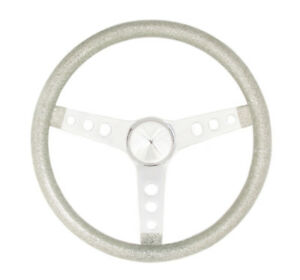 Grant 8464 Metal Flake Chrome Steel 15 In Diameter Steering Wheel