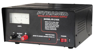 Pyramid Ps21kx 20 Amp 13 8v Ac dc Power Supply Converter W Cooling Fan