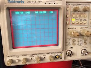 Low Hour Tektronix 2465act 350mhz Oscilloscope 1 Yr Guaranty Available Extra