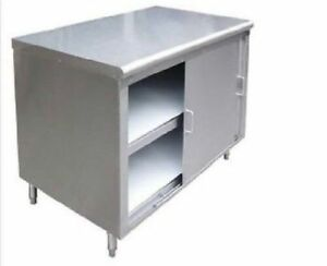 All Stainless Steel 24 x30 Commercial Storage Dish Cabinet W Sliding Doors Nsf
