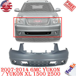 Front Bumper Cover Primed W Fl Holes For 07 14 Gmc Yukon Yukon Xl 1500 2500