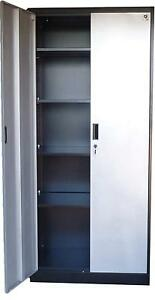 Fedmax Steel Storage Cabinet 71 Tall Lockable Doors And Adjustable Shelves