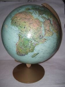 Vintage Replogle True To Life 12 World Relief Globe Excellent Condition