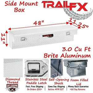 160481 Trailfx 48 Polished Aluminum Side Mount Truck Tool Box