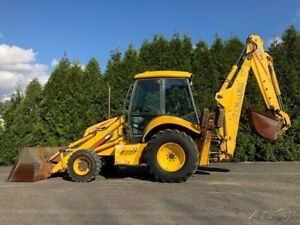2001 New Holland Lb90 Back hoe Loader 4x4 Extend a hoe Full Cab Diesel Tractor