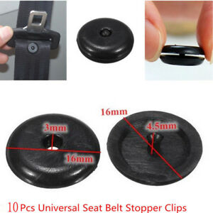 10pcs Universal Clip Seat Belt Stopper Buckle Button Fastener Safety Car Part