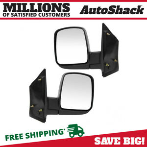 Pair 2 Manual Side View Mirror Fits 03 15 Chevrolet Express 2500 Express 3500