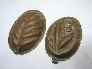 Early Tinned Copper Confectioner S Maple Sugar Candy Mold Primitive Kitchen Tool