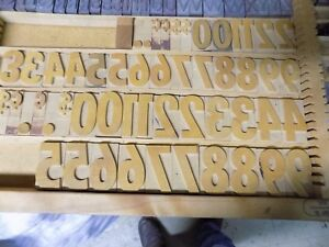 Wood Type For Letterpress Printing Sign Press Numbers Set 120pt 1 5 8