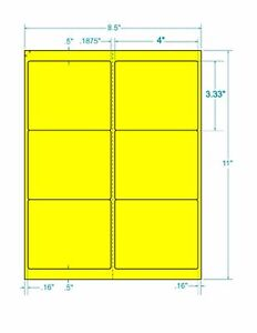 Laser Labels Shipping 600 Labels 4 X 3 333 Fluorescent Yellow Labels