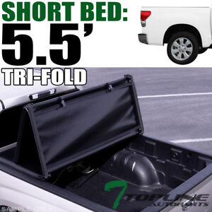 Topline For 2014 2019 Toyota Tundra 5 5 Ft Short Bed Tri Fold Soft Tonneau Cover