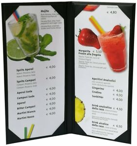 5 Pcs Of Restaurant Menu Covers Holders 4 75 X 11 Inches Double View sold