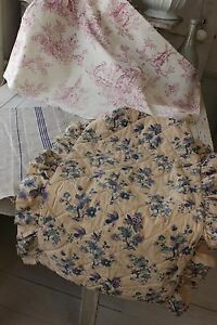 Antique French Fabric Vintage Material Project Bundle Purple Toil
