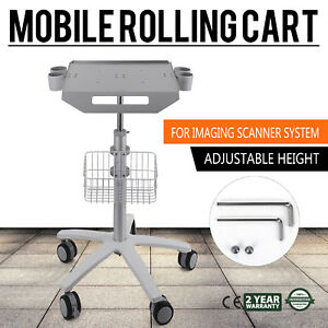 Mobile Rolling Cart For Ultrasound Scanner Machine Space saving Tabletop Lab
