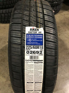 4 New 225 60 18 Riken Raptor Hr Tires